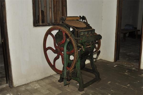 民间收藏的印刷机
